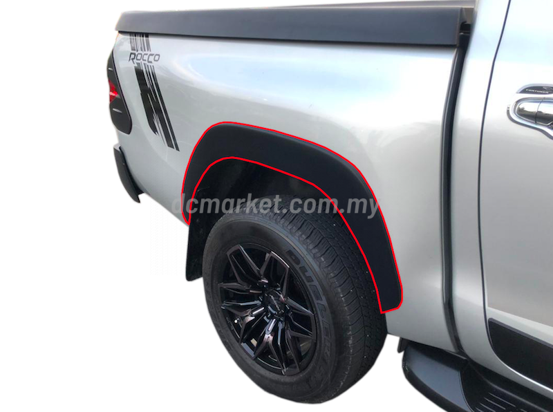 Details about  /Genuine Over Fender Flare Silver Garnish For Toyota Hilux Revo 2 Door 2017 2019